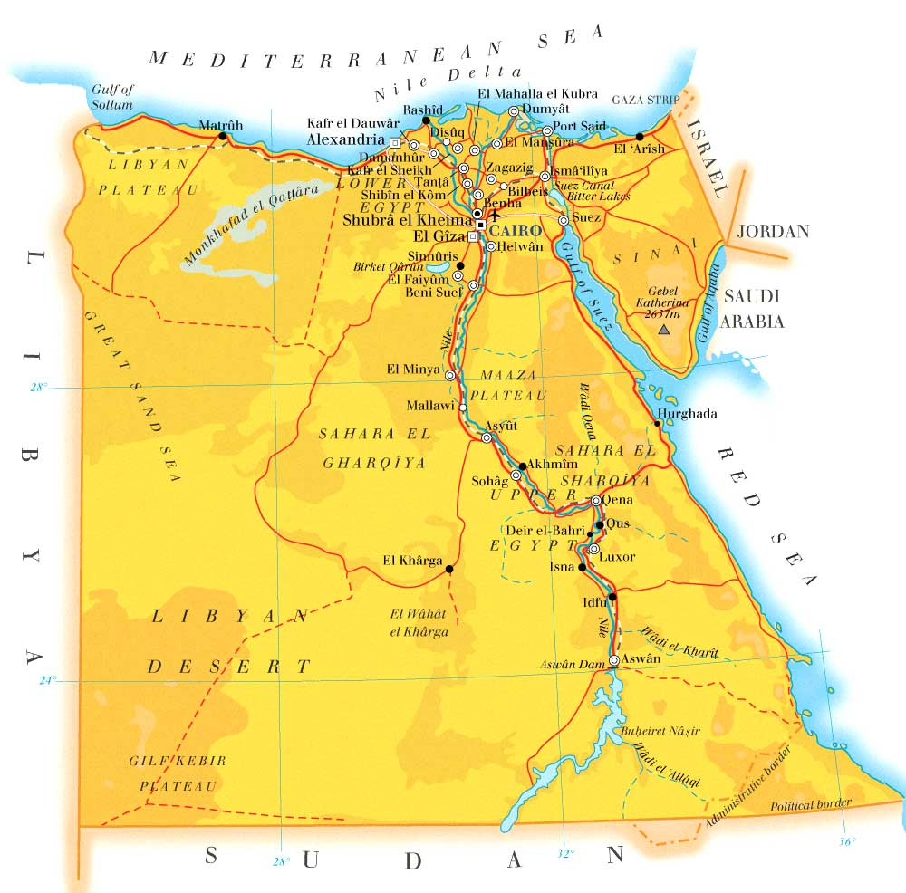 Map of Egypt Flats In Luxor