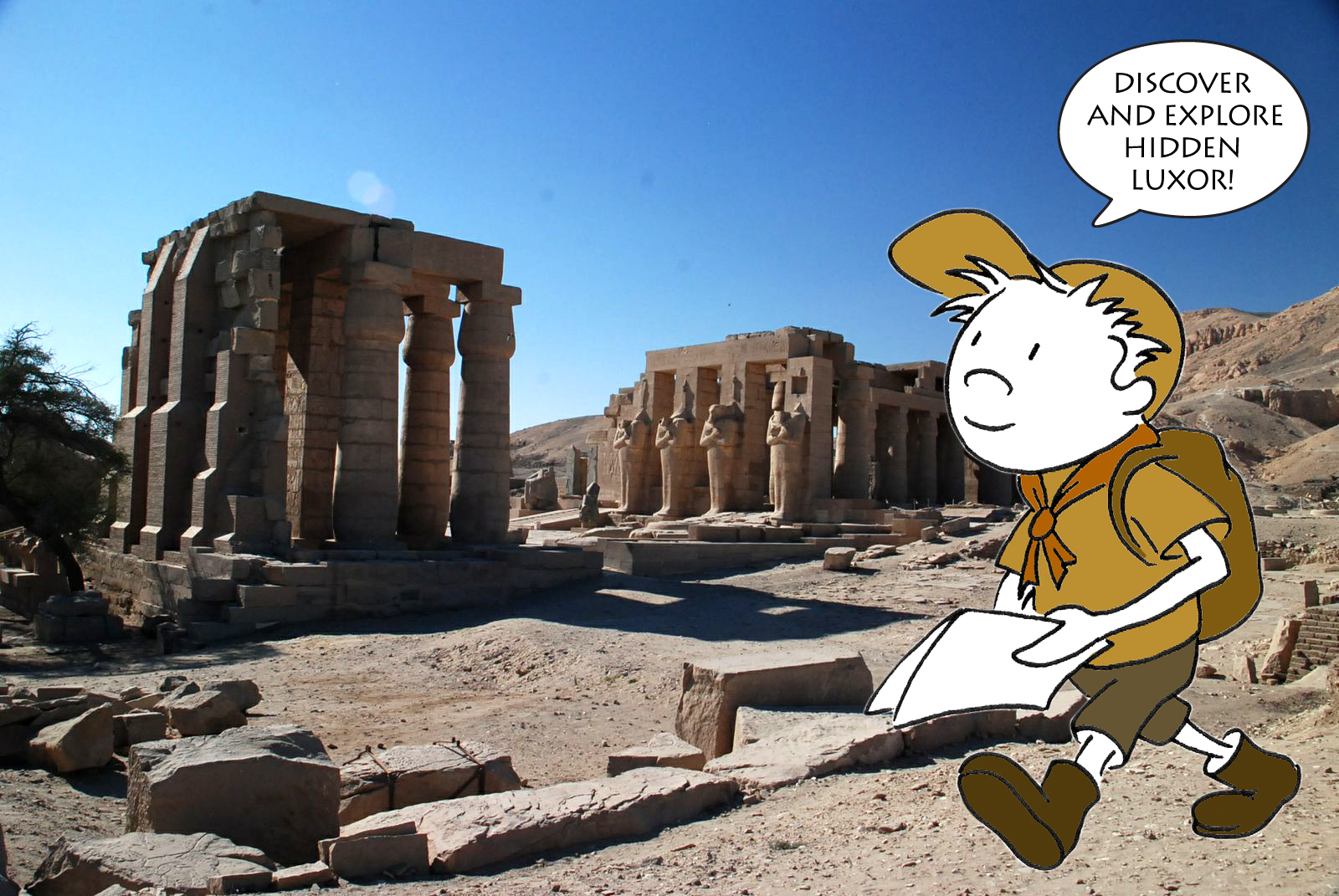 Jude at the Ramasseum